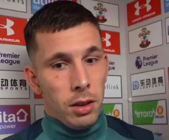 Southampton's captain apologises after 0-9 defeat. Captura/SouthamptonFC