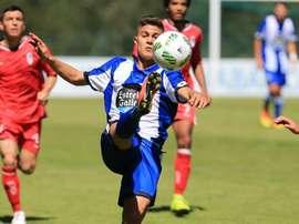 Pinchi, uno de los jugadores del filial del Deportivo. Riazor.org / Fernando Fernández