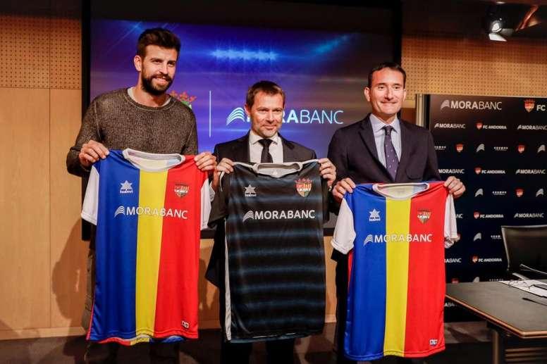 Piqué confía en la llegada del Andorra a Tercera División. Twitter/FCAndorra