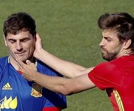 Piqué a envoyé un message de soutien à Casillas. EFE