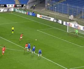 Pizzi scored for Benfica. Screenshot/MovistarLigadeCampeones