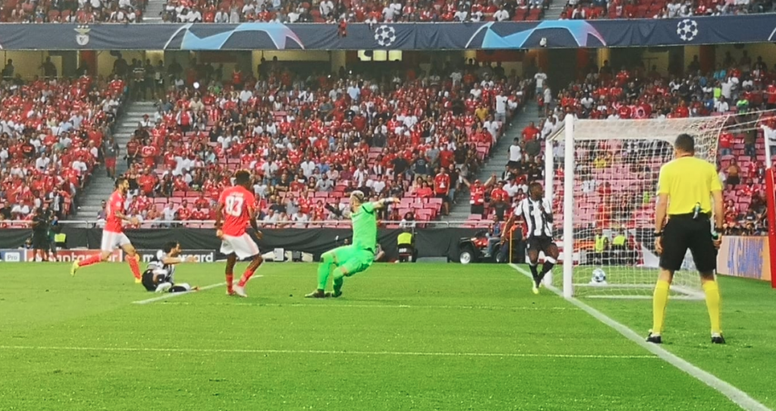 El Benfica, protagonista negativo de la noche. Twitter/SLBenfica