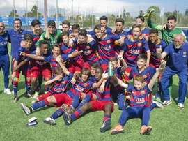 Es el tercer equipo de La Masía en coronarse campeón en los últimos días. FCBarcelona