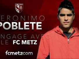 Poblete, nouvelle recrue de Metz. Metz