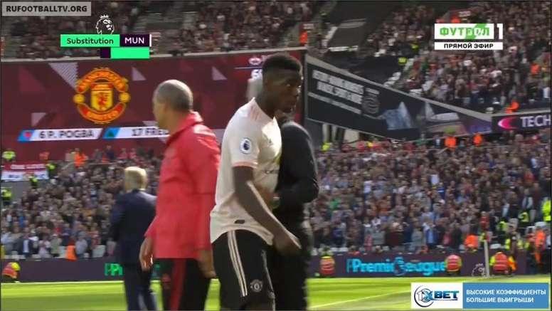 Rashford a redonné de l'espoir à United. Capture/Movistar+