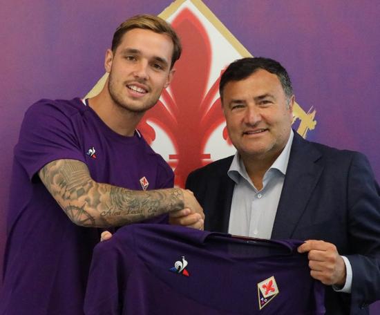 Lirola, prêté par Sassuolo à la Fiorentina, Twitter/acfiorentina
