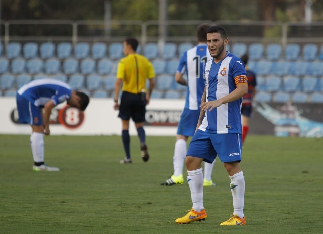 Pol Llonch, defendiendo los colores del Espanyol B. RCDEspanyol