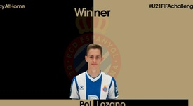 Pol Lozano gana el FIFA Challenge Sub 21. Twitter/LozanoPol26