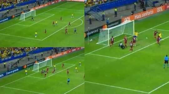 Brazil once again had a goal taken away by the VAR. Captura/DAZN