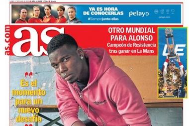 Les Unes des journaux sportifs en Espagne. AS