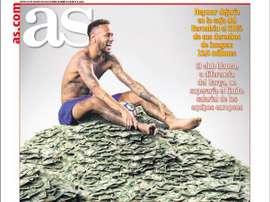 La Une des journaux sportifs en Espagne du 22 août 2019. AS