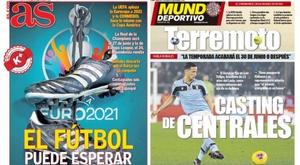 Les Unes des journaux sportifs en Espagne du 18 mars 2020. AS-MD