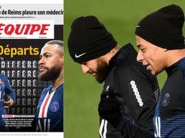París sonríe por Neymar y Mbappé. LEquipe/AFP
