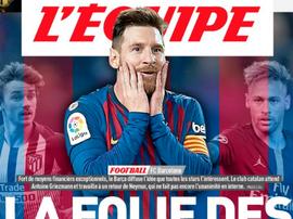L'Équipe évoque la folie des grandeurs du Barça. LEquipe