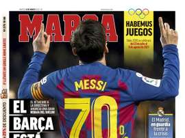 Les Unes des journaux sportifs en Espagne. AFP