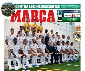 Les Unes des journaux sportifs en Espagne. BeSoccer
