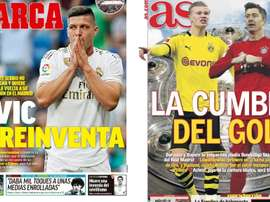 Les Unes des journaux sportifs en Espagne du 26 mai 2020. Marca/AS