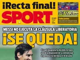 Les Unes des journaux sportifs en Espagne du 2 juin 2020. Sport