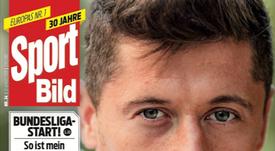 Capa do jornal 'Sport Bild' de 22-08-2018 com Lewandowski. SportBild