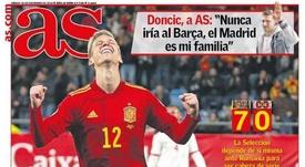 Capa do jornal AS de 16-11-19. /AS