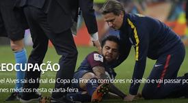 El brasileño se lesionó durante la Copa de Francia. Globoesporte