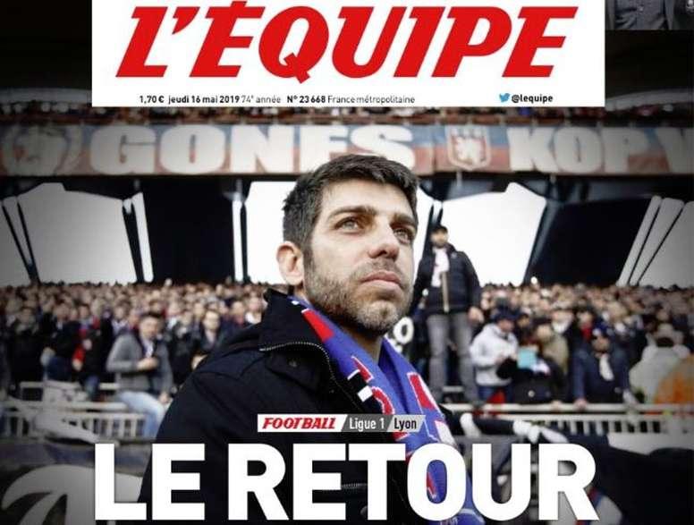 Juninho regresará al Olympique de Lyon. L'Equipe