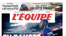 'L'Équipe' abre sus páginas con Dembélé. LÉquipe
