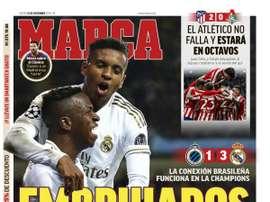 Les Unes des journaux sportifs en Espagne du 12 décembre 2019. Marca