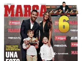 Capa do jornal Marca de 17/10/2019. Marca