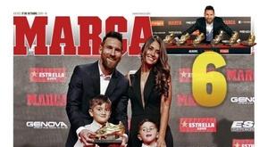 La Une des journaux sportifs en Espagne du 17 octobre 2019. Marca