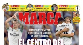 Capa do jornal 'Marca' de 21-09-18. Marca