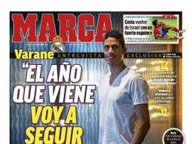 Capa do jornal Marca de 22-05-19. Marca