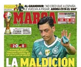 Une de Marca du 28/06/2018. Marca