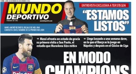 Capa do Mundo Deportivo de 24-02-2020. MD
