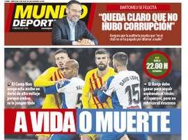 Les Unes des journaux sportifs en Espagne du 8 juillet 2020. MundoDeportivo