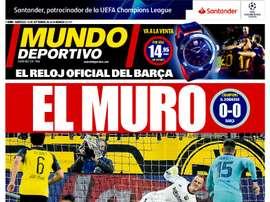 Les Unes des journaux sportifs en Espagne. MundoDeportivo