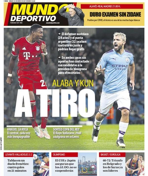 El Barça tiene un 2x1 sobre la mesa: Agüero y Alaba, ofrecidos