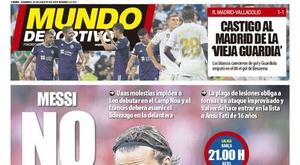 Capa do jornal 'Mundo Deportivo' de 25-08-2019. MD