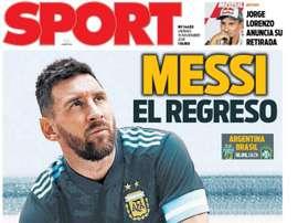Les Unes des journaux sportifs en Espagne. Sport