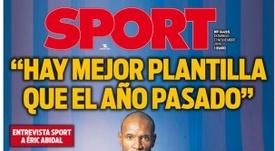 Portada de Sport del 17-11-2019. Sport