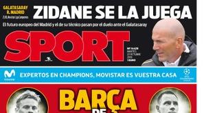 Capa do jornal Sport de 22-10-2019. Sport