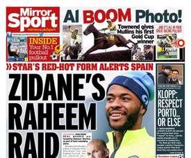 Zidane de olho em Sterling. Mirror