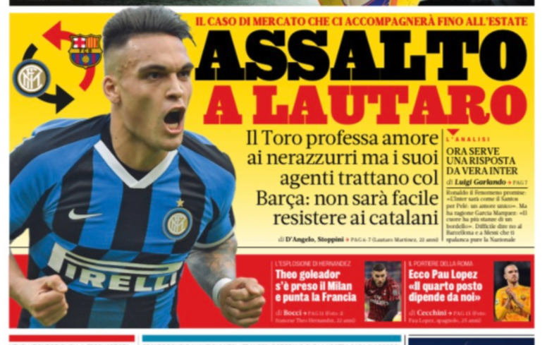 Barca could offer some players to Inter. Gazzetta