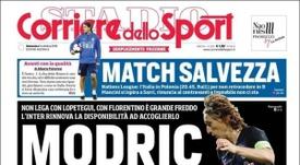 En Italia aseguran que el Inter vuelve a la carga por Modric. CorrieredelloSport