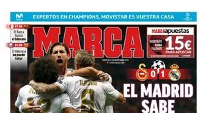 Portada del diario 'Marca' del 23-10-2019. Marca