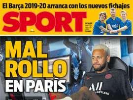 Les Unes des journaux sportifs en Espagne du 16 juillet 2019. Sport