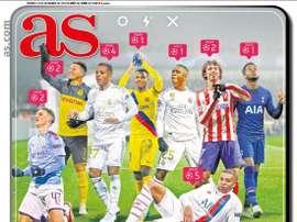 Les Unes des journaux sportifs en Espagne du 13 décembre 2019. AS