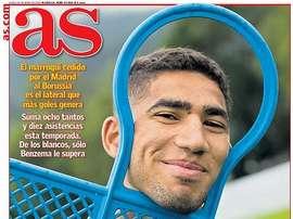 Les Unes des journaux sportifs en Espagne du 25 mai. AS