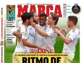 Les Unes des journaux sportifs en Espagne du 6 juillet 2020. Marca
