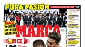 Portada del diario Marca del 16-11-2019. Marca